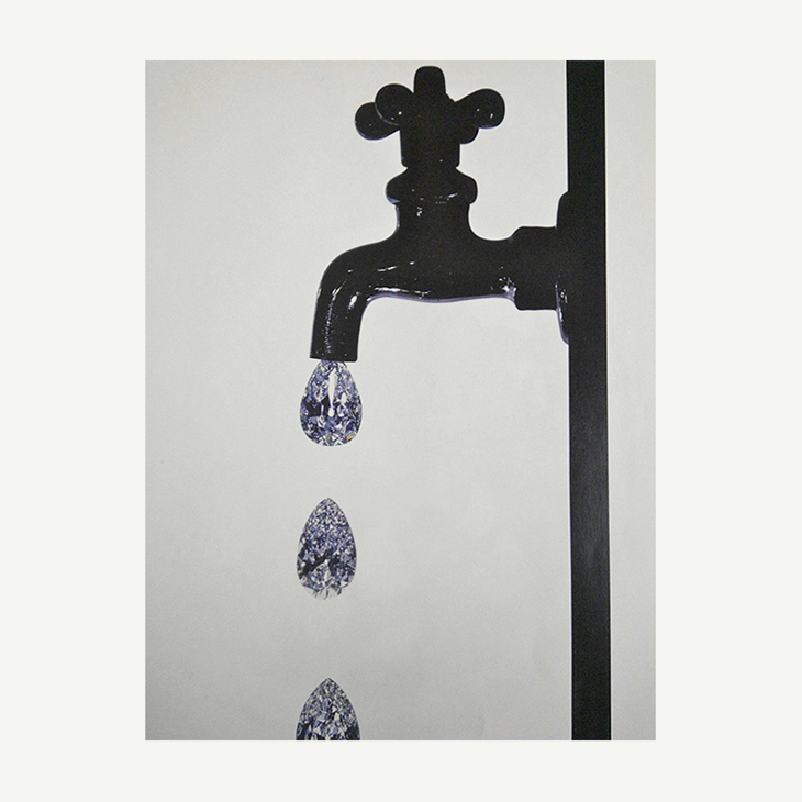 ON THE WALL | Faucet Dripping Diamonds by Irving Penn, New York, 1963