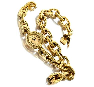 A Gold Wristwatch, By Hermes, Circa 1970