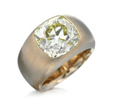 A Cushion-cut Diamond And Copper Ring Of 7.84 Carats, By Hemmerle