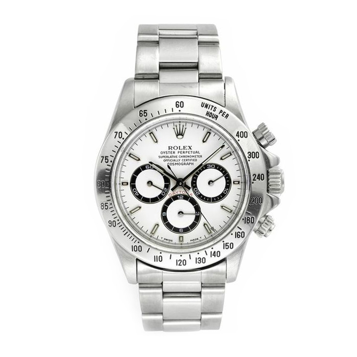Rolex: A White Dial Steel Daytona Cosmograph Wristwatch, circa 2000