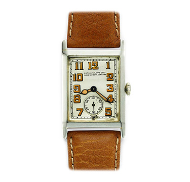 Patek Philippe: 18k White Gold Wristwatch, circa 1930