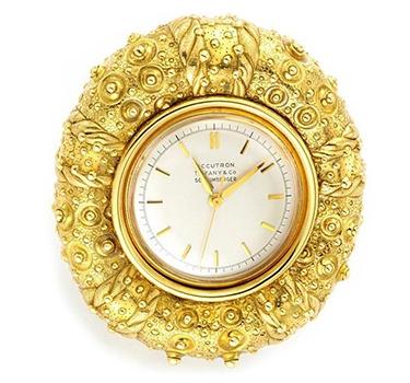 A Gold Sea Urchin Clock, By Jean Schlumberger
