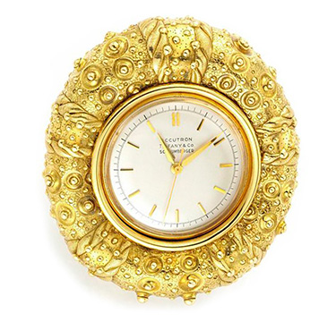 A Gold Sea Urchin Clock, by Jean Schlumberger