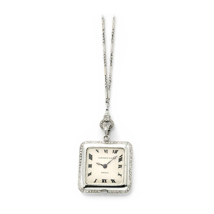 19155ca741763 FD Gallery | An Art Deco Diamond and Platinum Pendant Watch, by ...
