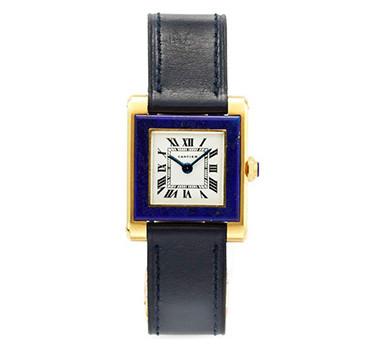 A Lapis Lazuli And Gold Wristwatch, By Cartier, Circa 1960