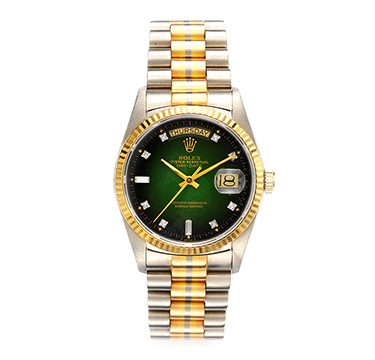 A Tri-colored Gold President, Ref. 18039b, by Rolex, circa 1990