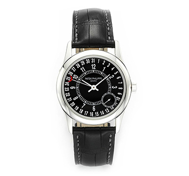Patek Philippe: An 18k White Gold Calatrava Ref. 6000G Wristwatch