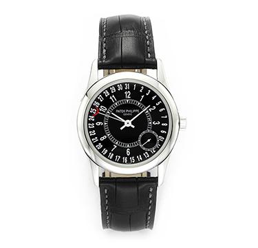 Patek Phillippe: An 18k White Gold Calatrava Ref. 6000G Wristwatch