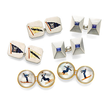 A Group of Art Deco Cufflinks, circa 1930