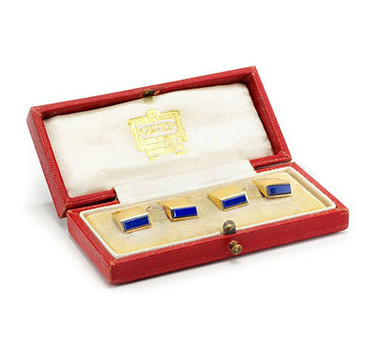 A Set Of Gold And Lapis Lazuli Cufflinks, By Cartier, Circa 1930