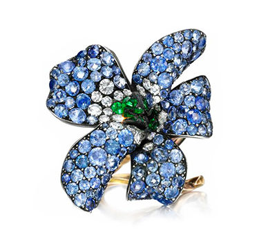 A Sapphire, Emerald And Diamond 'Violet' Ring, By JAR