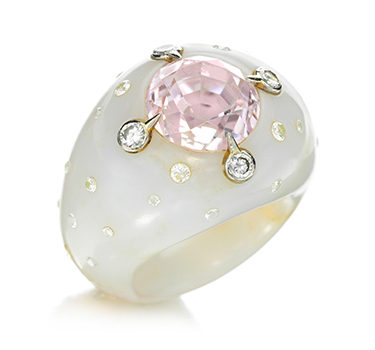 A Kunzite, Diamond And Chalcedony, By JAR