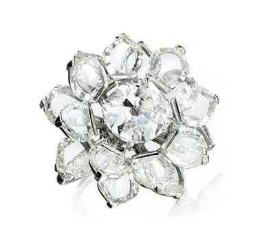 A Diamond Lotus Ring, By Bhagat