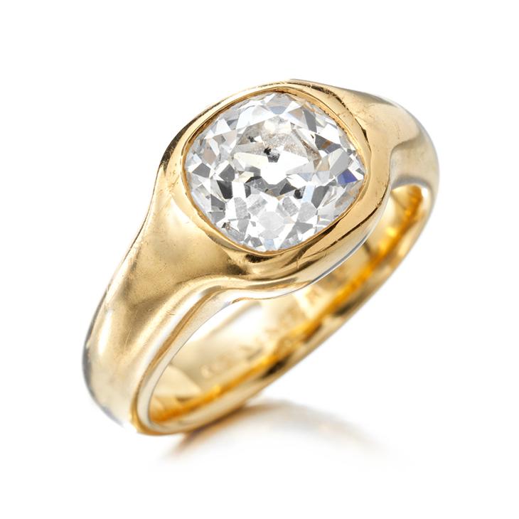 A Cushion-cut Diamond Ring, by Hemmerle