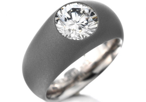 A Fancy Grey Diamond Ring Of 2.04 Cts, By Hemmerle