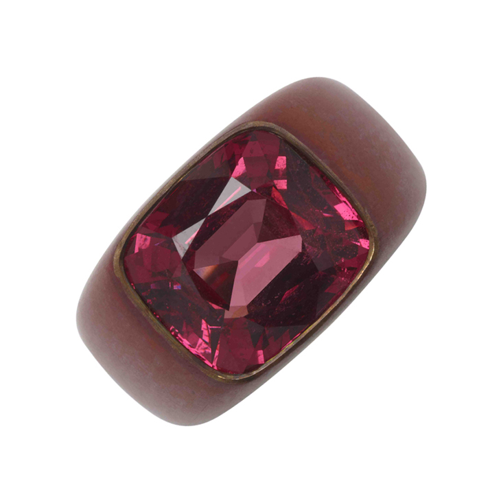 A Pink Spinel and Copper Ring, by Hemmerle