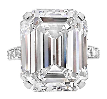 A Diamond Ring Of 20.42 Carats, D Color, VS1 Clarity, By Cartier