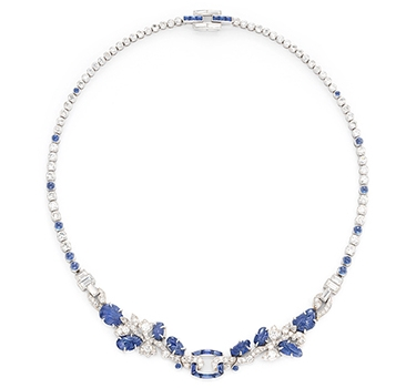 An Art Deco Sapphire And Diamond 'Tutti Frutti' Necklace, By Cartier, Circa 1930