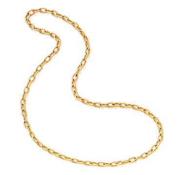 A Gold Link Chain Necklace, by Cartier