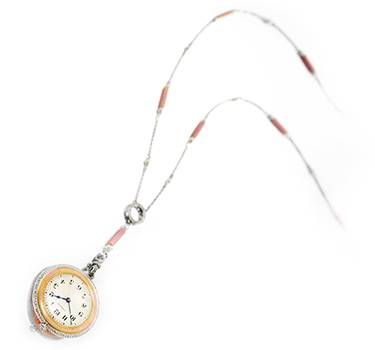 A Belle Epoque Watch Pendant Necklace, By Cartier, Circa 1910