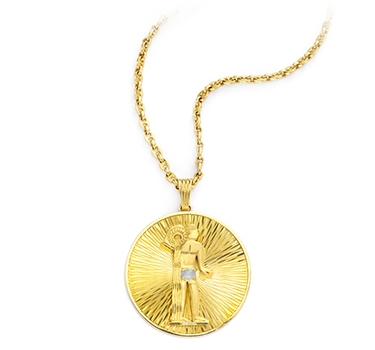 A Gold Aquarius Pendant, By Cartier, Circa 1970