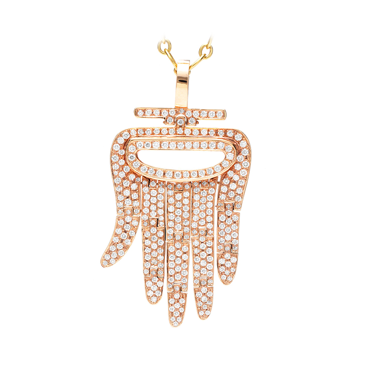 Fd gallery an 18k rose gold and diamond hamsa pendant by aldo an 18k rose gold and diamond hamsa pendant by aldo cipullo cartier mozeypictures Images