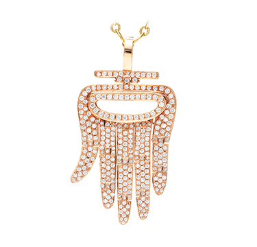 An 18k Rose Gold and Diamond 'Hamsa' Pendant, by Aldo Cipullo, Cartier