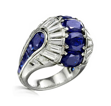 An Art Deco Sapphire and Diamond Ring, by Van Cleef & Arpels, circa 1938