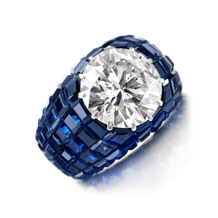 A Mystery-set Sapphire and Diamond Ring, by Van Cleef & Arpels