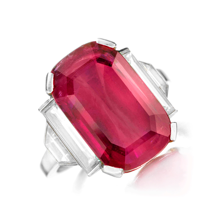 fd gallery an deco ruby and ring by cleef arpels