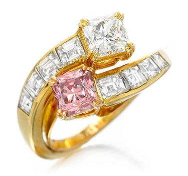 A Fancy Intense Pink Diamond Ring, By Van Cleef & Arpels