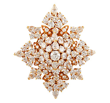 A Diamond And Gold Snowflake Brooch Of 20.00 Carats, By Van Cleef & Arpels