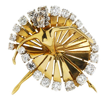 A Diamond And Gold Ballerina Brooch, By Van Cleef & Arpels
