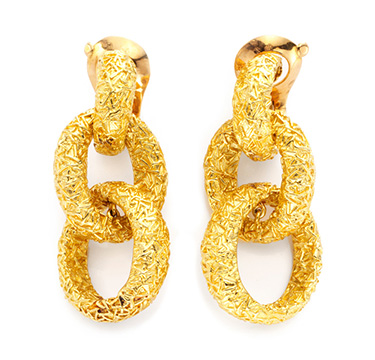 A Pair of Gold Ear Pendants, by Van Cleef & Arpels, circa 1970