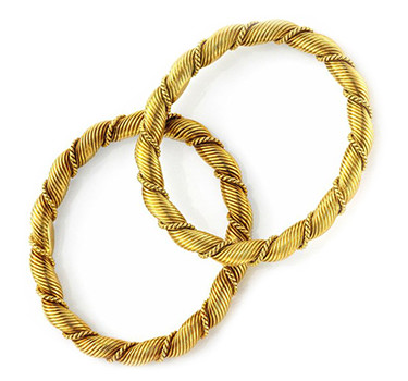 A Pair Of Gold Twist Bangles, By Van Cleef & Arpels, Circa 1970