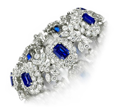 A Burmese And Kashmir Sapphire And Diamond Bracelet, By Van Cleef & Arpels, Circa 1950