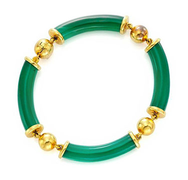A Chrysoprase and Gold Bracelet, by Van Cleef & Arpels, circa 1960