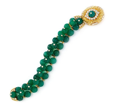 A Chrysoprase And Diamond Bracelet, By Van Cleef & Arpels, Circa 1960