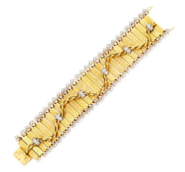 A Retro Gold And Diamond 'Jalouise' Bracelet, By Van Cleef & Arpels, Circa 1940