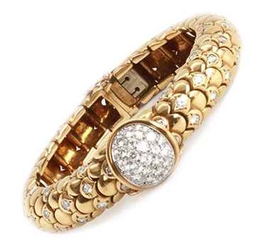 A Gold And Diamond Bracelet Watch, By Van Cleef & Arpels, Circa 1970