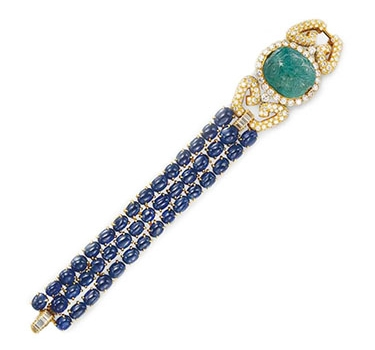 An Emerald, Sapphire And Diamond Bracelet, By Van Cleef & Arpels, Circa 1975