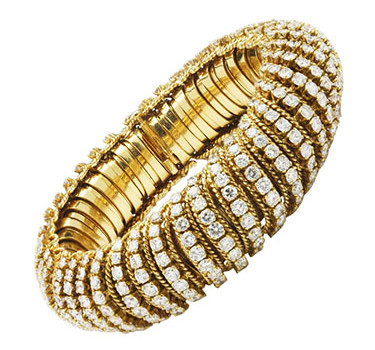 A Diamond And Gold Bracelet, By Van Cleef & Arpels, Circa 1965