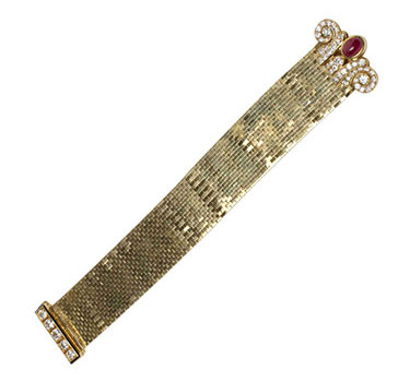 A Retro Ruby And Diamond 'Ludo' Bracelet, By Van Cleef & Arpels, Circa 1940