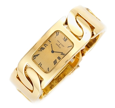 A Gold Bracelet Watch, By Van Cleef & Arpels, Circa 1970