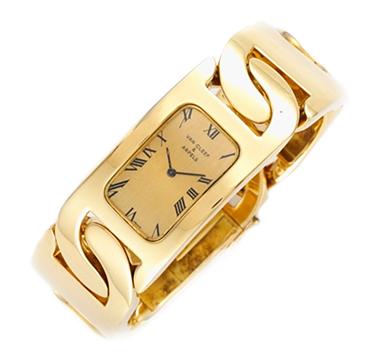 A Gold Bracelet Watch, by Van Cleef & Arpels, circa 1970