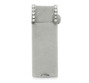 An Art Deco Diamond And Platinum Lighter, By Ostertag, Circa 1920
