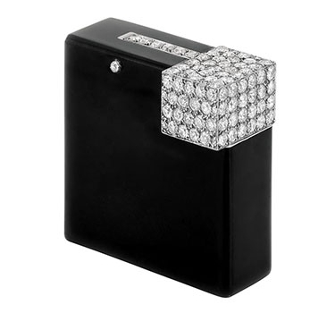 An Art Deco Diamond And Onyx Lighter, By Cartier, Circa 1920