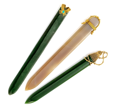 A Set Of Multi-gem And Gold Letter Openers, By Jean Schlumberger, Circa 1960