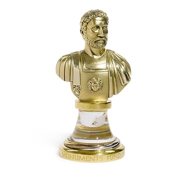 A French Silver-Gilt And Rock Crystal Bust Of Hadrian, By Cartier, Circa 1991