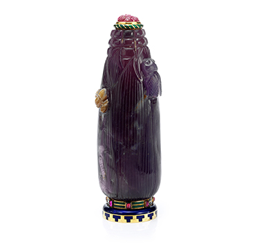 Art Deco Mutli-Gem and Enamel Scent Bottle, by Cartier